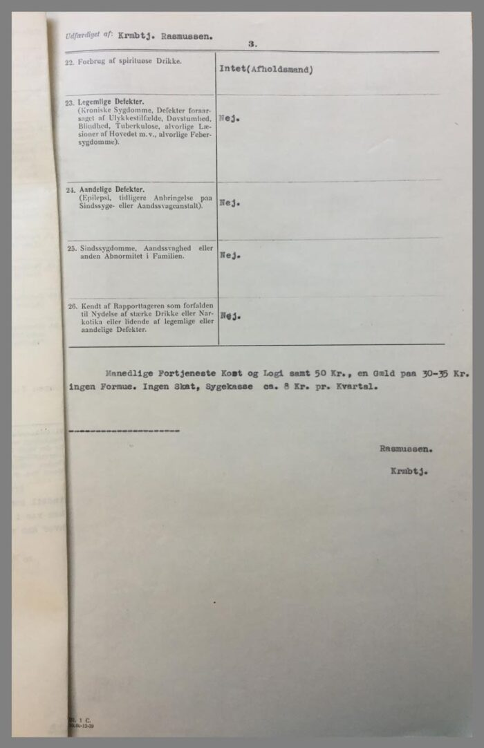 Generaliarapporten opsummerer Jonny Tiedemanns familiemæssige baggrund side 3