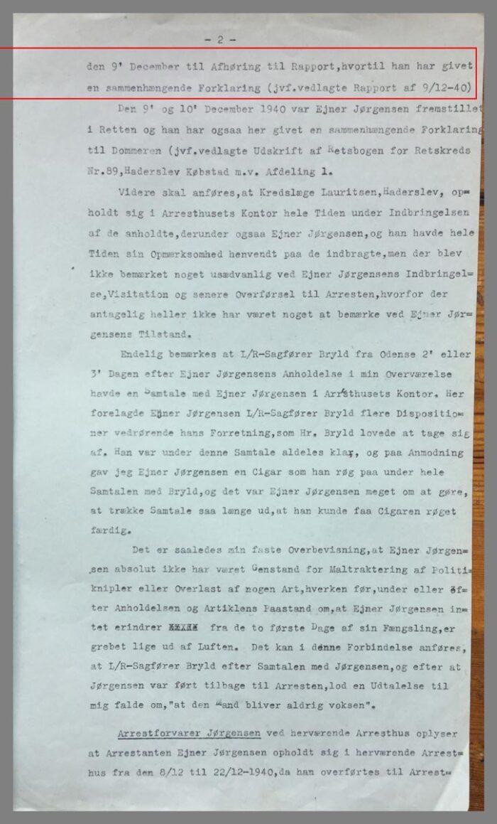 Uddrag af en rapport af 5. april 1941 del 2